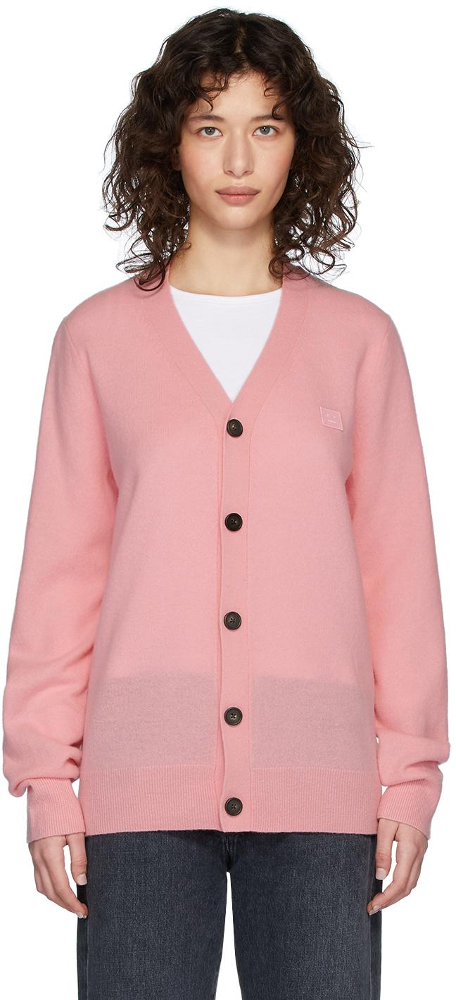 Acne Studios 粉色贴饰羊毛开衫