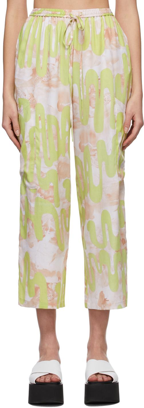 Collina Strada SSENSE 独家发售绿色 & 粉色 Dollhouse 长裤