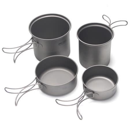 犀牛RHINO 雙人鈦合金套鍋 (1.1L + 0.75L)