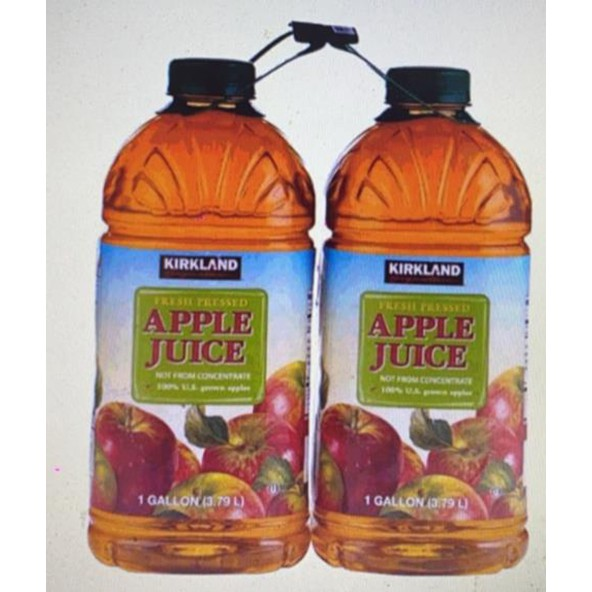 KS 鮮榨蘋果汁 每瓶3.79公升X2入(3組) W158996 [COSCO代購 1722] 促銷至4月16日