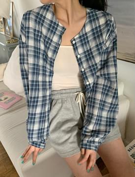韓國空運 - Lauren Check Round Blouse 襯衫