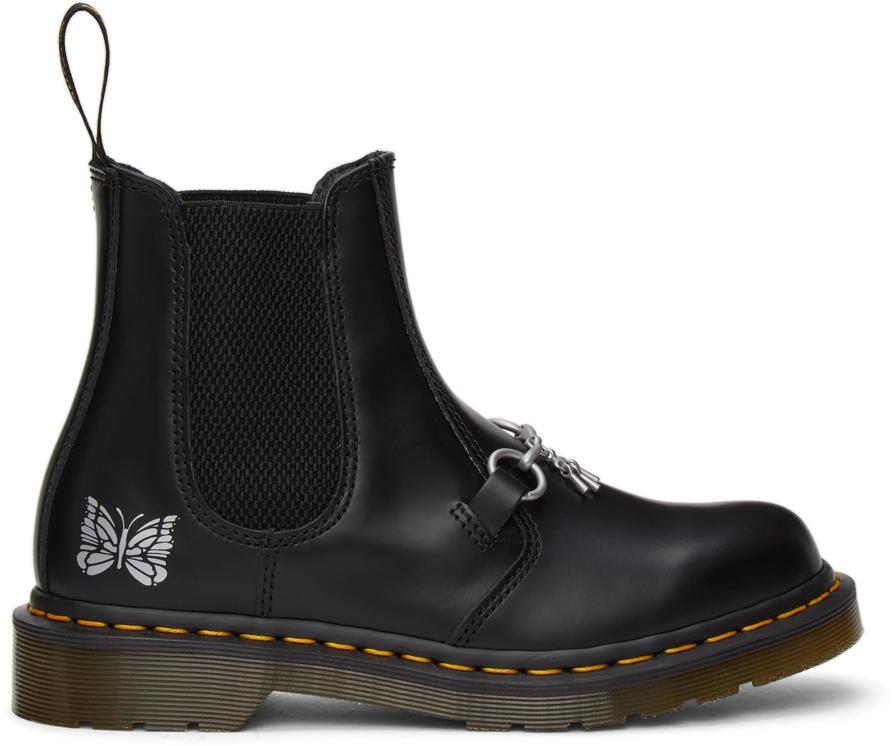 Needles 黑色 Dr. Martens 联名 2976 Snaffle 切尔西靴