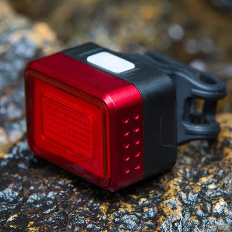 智能感應剎車尾燈自行車燈充電燈夜騎腳踏車配件