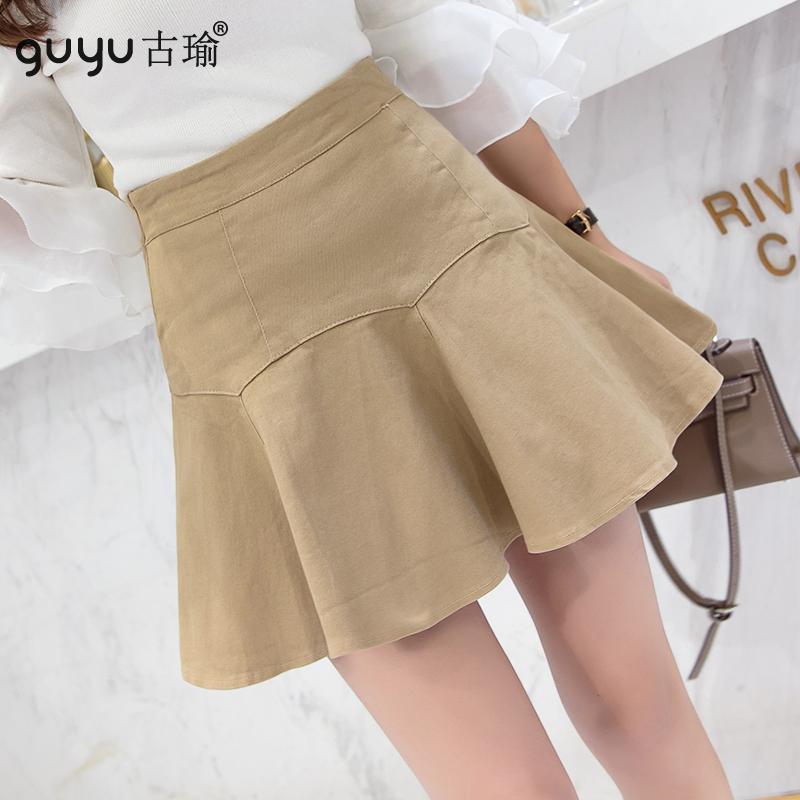 防走光傘裙 S-XL女生夏天超短裙高腰魚尾裙顯腿長短版半身裙