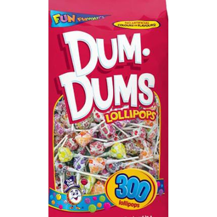 Dum Dums 綜合口味立袋棒棒糖 300入 / 1.44公斤 兩入 W127998 COSCO代購