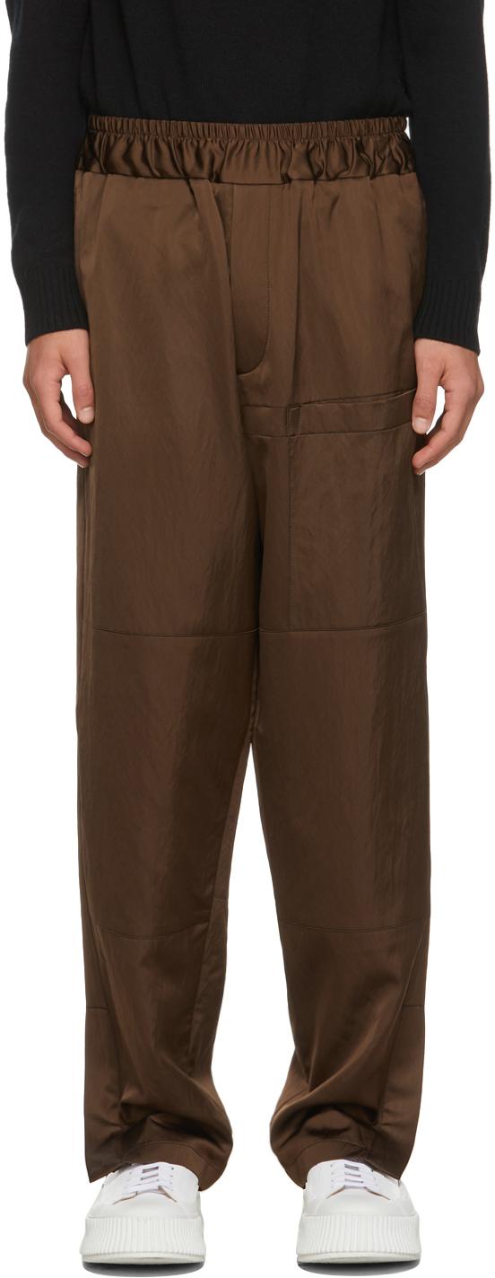Jil Sander 棕色 Pebble 长裤