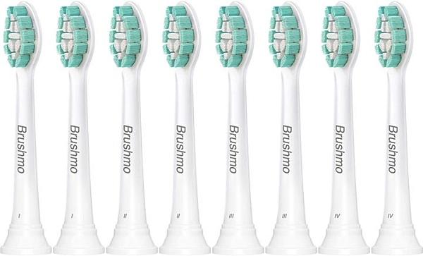 【日本代購】BRAMO 替換刷頭 Philips Sonicare 替換刷頭 適用於替換刷頭 清潔 刷頭 常規 8支裝