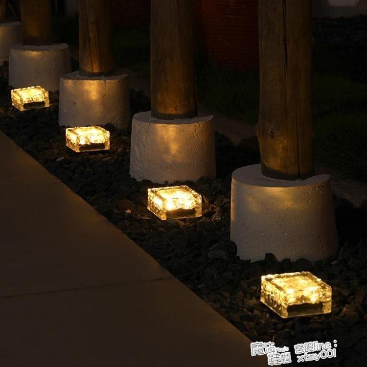 太陽能庭院燈花園別墅戶外草坪家用陽台天黑自動亮防水裝飾地埋燈