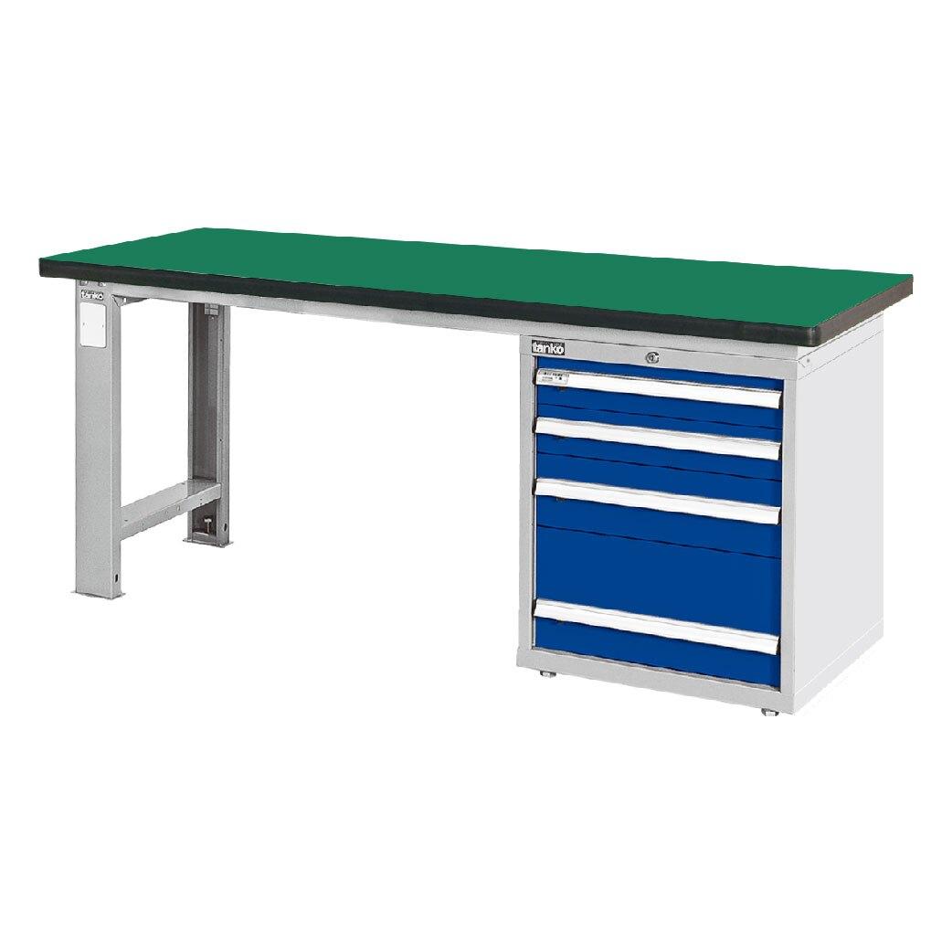 天鋼 耐衝擊桌板單櫃型工作桌 WAS-67042N 寬1800mm 可加購掛板組與掛鉤 工作臺 辦公桌 耐重桌 工廠桌 實驗桌