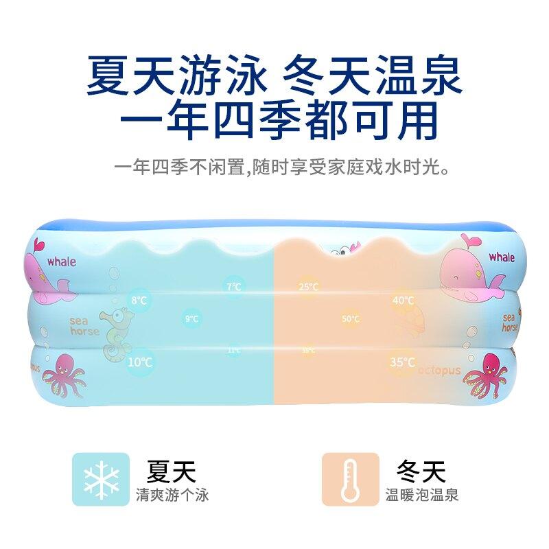 充氣泳池 babysafe兒童游泳桶家用折疊新生嬰兒游泳池加厚寶寶充氣浴缸泳池ZHJG193