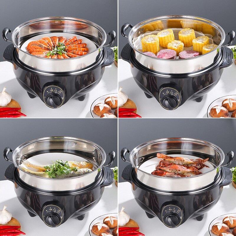 電蒸鍋多功能家用三層四層不銹鋼蒸鍋電蒸籠電熱鍋蒸菜神器大容量 第一印象