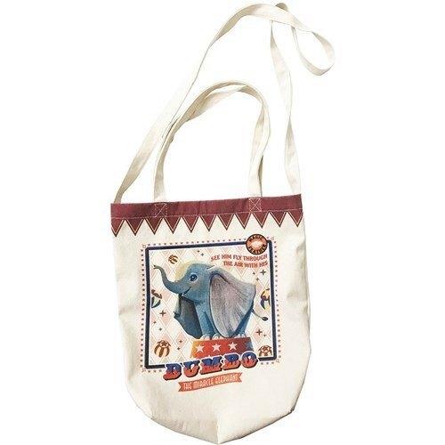 大賀屋 日貨 小飛象 袋子 側背包 背包 帆布包 帆布袋 迪士尼 A4包 A4袋 購物包 包包 正版 J00016454