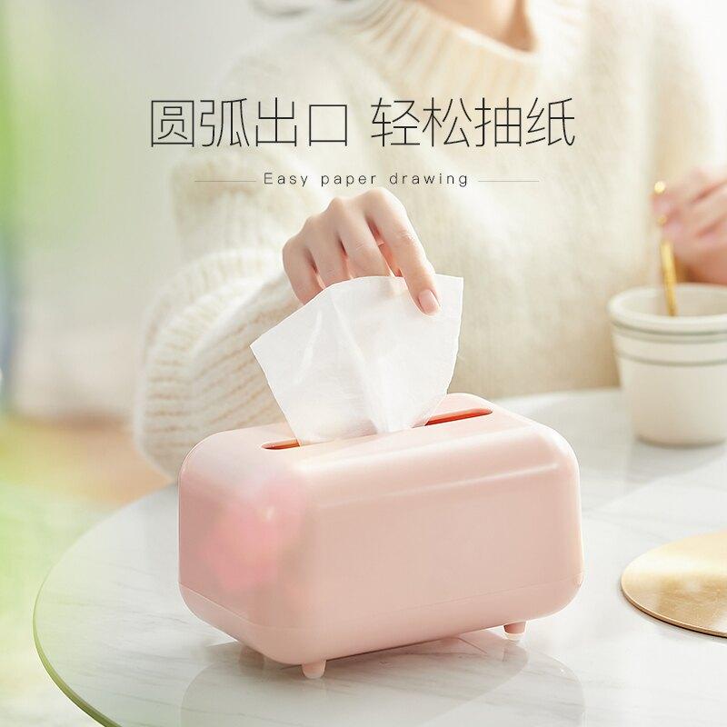 抽紙盒家用客廳創意餐廳白色簡約輕奢多功能高檔收納盒茶幾紙巾盒
