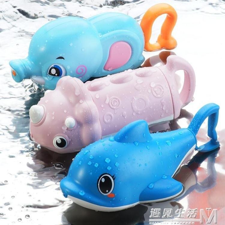 卡通兒童水槍女孩小號抽拉式迷你噴水槍幼兒園鯊魚水炮玩具寶男孩