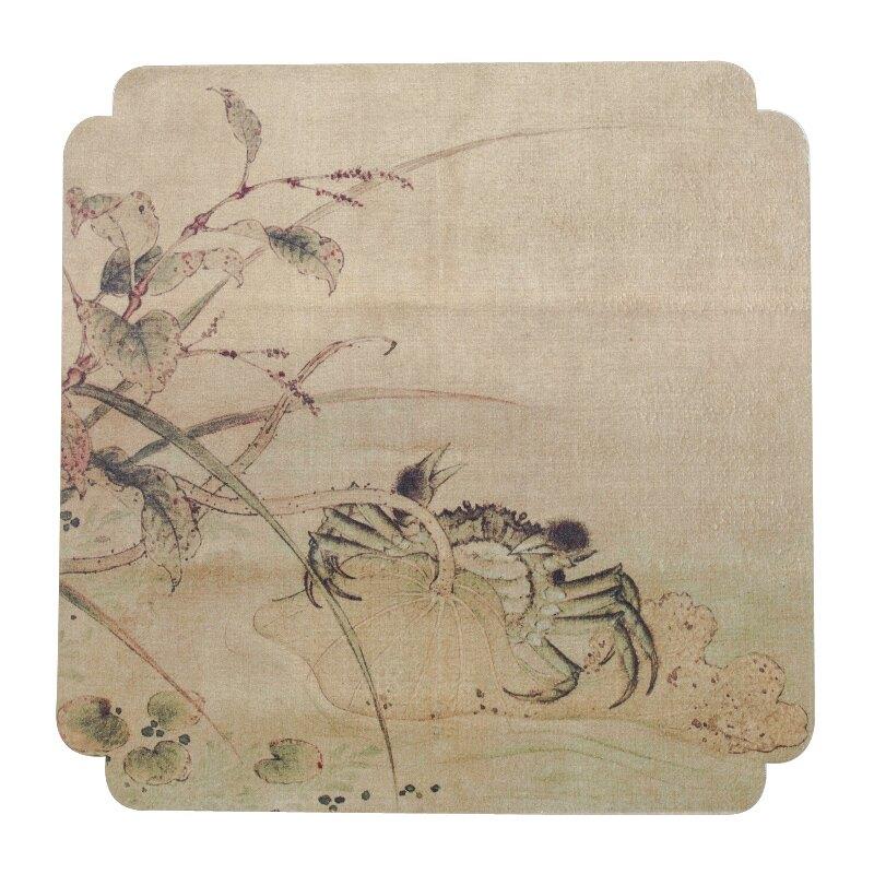 手繪茶布茶巾布茶墊吸水茶巾功夫茶專用毛巾茶桌抹布養壺巾