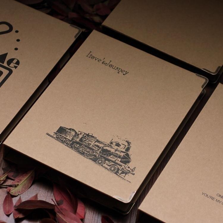 禮盒裝電影票車票收藏冊火車飛機旅行門票紀念收集相冊票據收納本 創時代3C 交換禮物 送禮