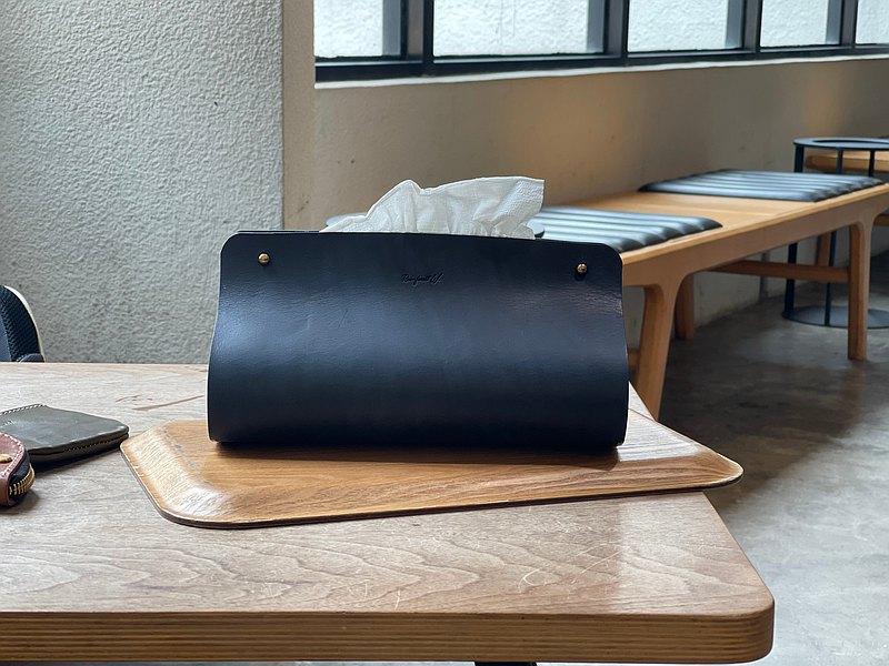 【手作革物】手作極簡面紙盒(深藍)