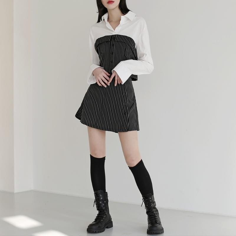 韓國空運 - Cabell stripe two-piece set 套裝