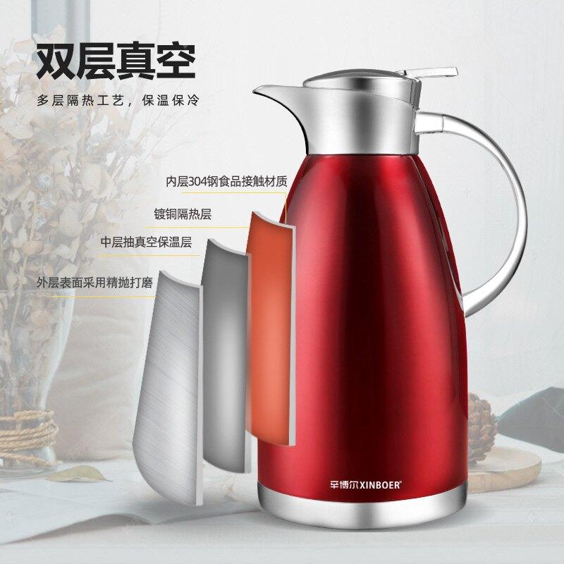 304不銹鋼保溫壺家用 大容量羅馬壺真空歐式咖啡壺熱