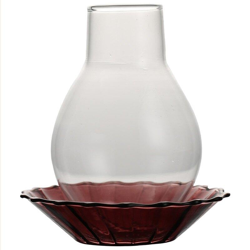 日式功夫茶道玻璃燭臺擺件復古防風禪意茶空間茶室茶桌茶具