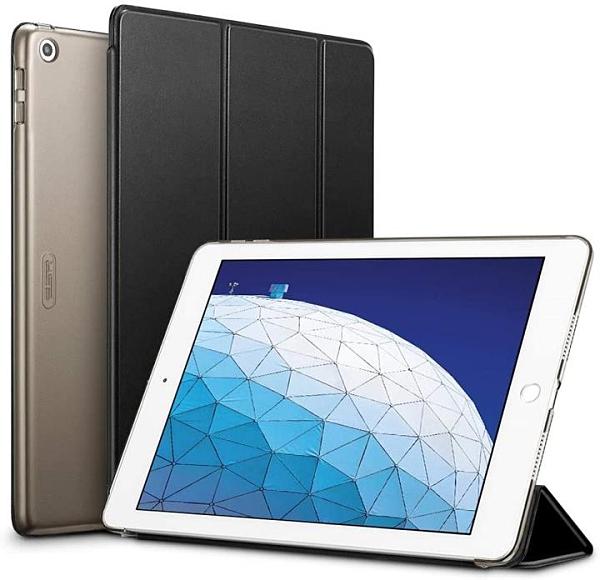 【日本代購】ESR iPad Air 3 保護殼2019 iPad Air  薄型皮革 休眠 三折支架 保護 黑色