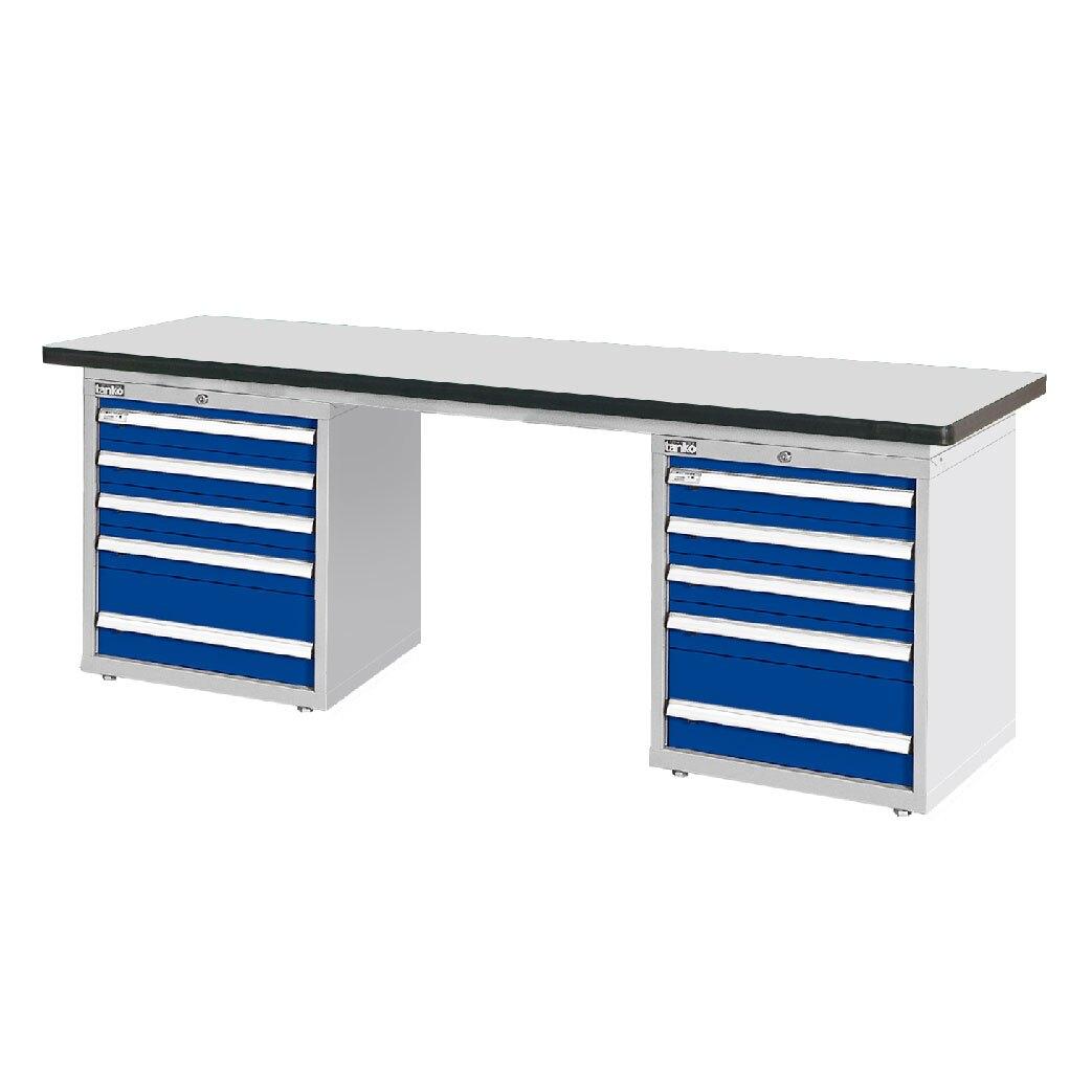 天鋼 耐磨桌板雙櫃型工作桌 WAD-77053F 各式工作櫃供選擇 工作臺 辦公桌 耐重桌 工廠桌 實驗桌