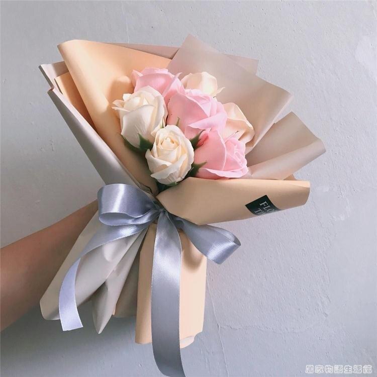 母親節7支香皂玫瑰花束婦女送女友閨蜜生日禮物 手捧花婚禮伴手禮