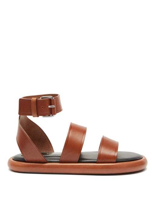 Proenza Schouler - Pipe Padded-insole Leather Sandals - Womens - Tan