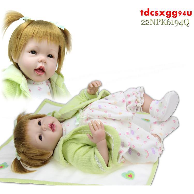 仿真嬰兒 玩具娃娃 55厘米布身金發洋娃娃 精美禮品 女生禮物