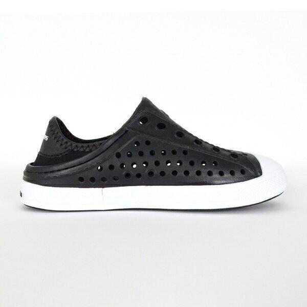Skechers Guzman Steps [91995LBLK] 童鞋 水鞋 雨天 游泳 戲水 透氣 可踩後跟 黑