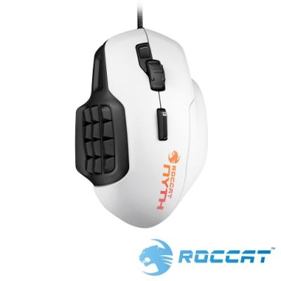 ROCCAT Nyth 模組按鍵雷射電競滑鼠-白