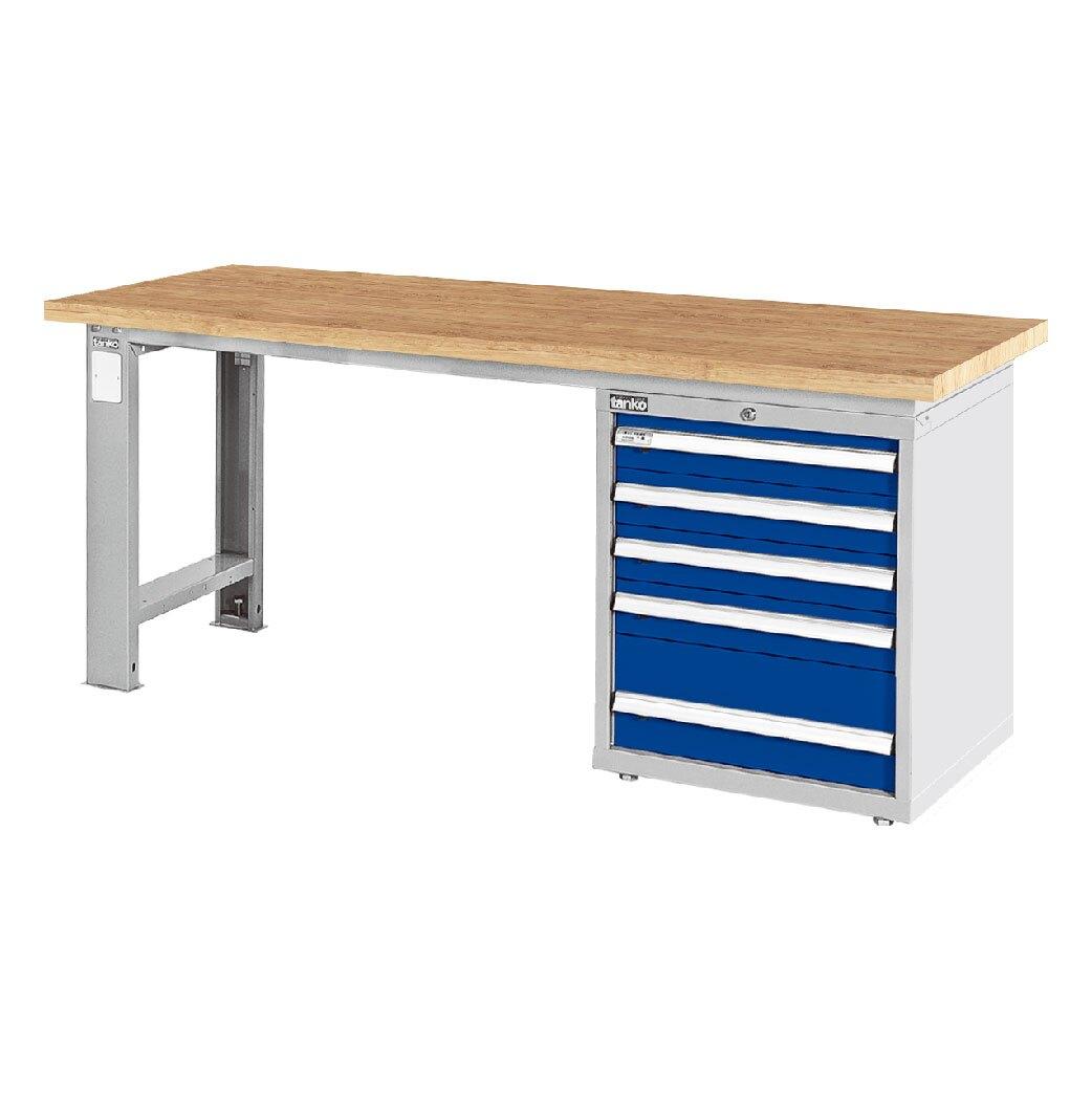 天鋼 原木桌板單櫃型工作桌 WAS-67053W 寬1800mm 可加購掛板組與掛鉤 工作臺 辦公桌 耐重桌 工廠桌 實驗桌
