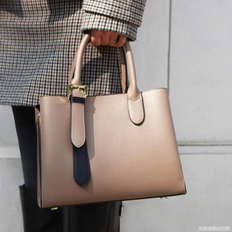 手提包新款時尚手提包女士媽媽中年單肩斜背包大容量包