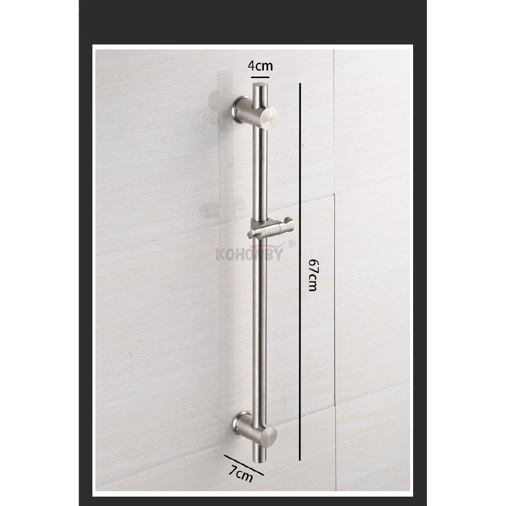 304不鏽鋼滑竿組滑桿組升降桿浴室用淋浴滑桿 蓮蓬頭昇降桿噴頭架淋浴花灑衛生間固定花晒淋浴支架帶托盤 全館八八折