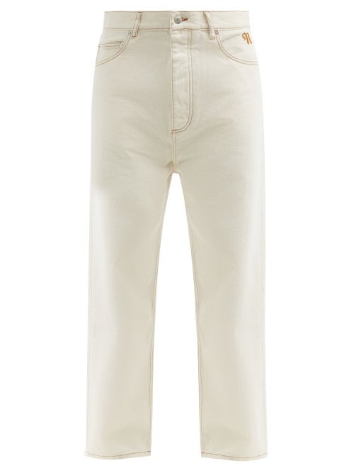 Nanushka - Connor Organic-cotton Straight-leg Jeans - Mens - Cream