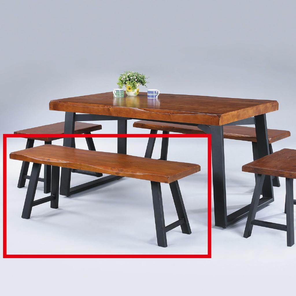 【120cm長方凳-C810-2】餐椅 北歐工業風 書桌椅 長凳 實木椅 皮椅布椅 餐廳吧檯椅 會議椅【金滿屋】