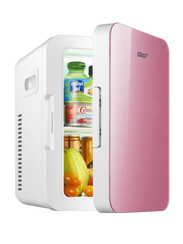 車載冰箱 SAST先科8L迷你車載家兩用冰箱家用寢室學生制冷單人宿舍小型冰箱ZHJG151