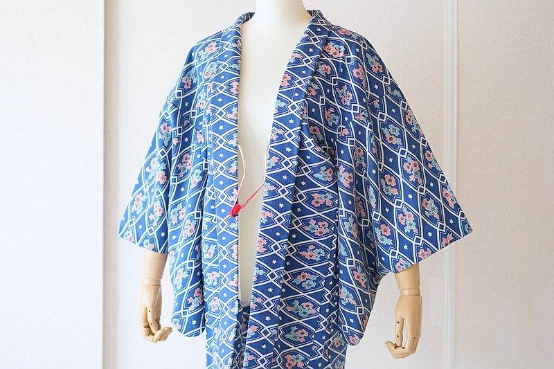 老式和服外套,羽織,日本和服/ 4640