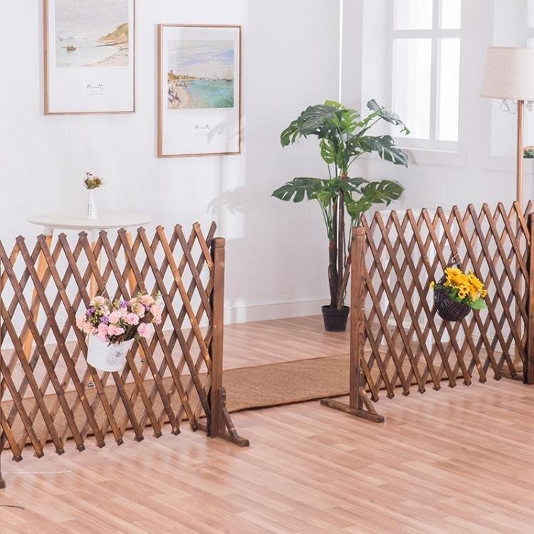 戶外木柵欄院子圍欄寵物室外花園裝飾伸縮圍牆竹籬笆防腐木室內至简元素 凱斯盾 交換禮物 送禮