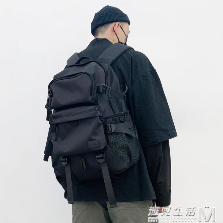 新款潮牌日系大容量旅行後背包男時尚潮流學生書包女運動電腦背包