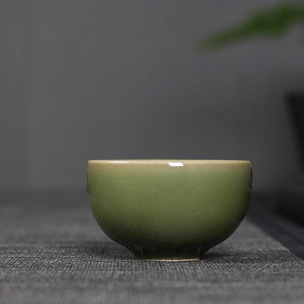 龍泉青瓷主人杯單杯弟窯陶瓷品茗杯功夫茶杯家用茶具茶盞手工茶碗