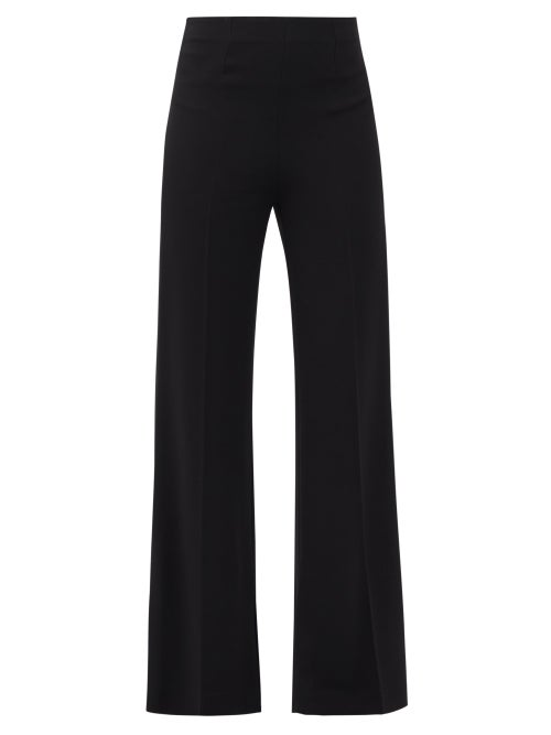 Roland Mouret - Saxley High-rise Slit-cuff Twill Trousers - Womens - Black