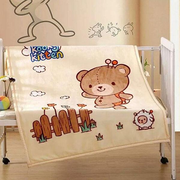 免運 GM 雙層寶貝熊童毯90x140cm(含盒) 【3入】