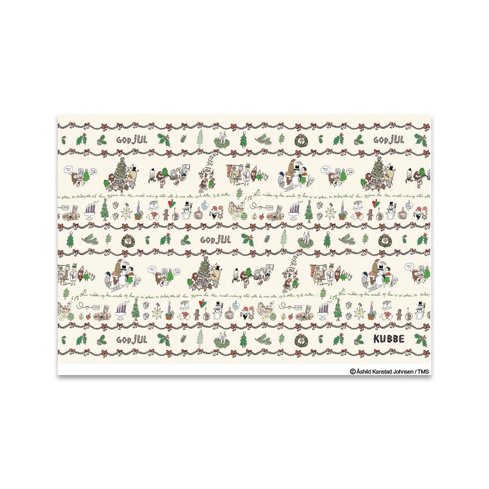 《酷比KUBBE》明信片-聖誕圖騰白