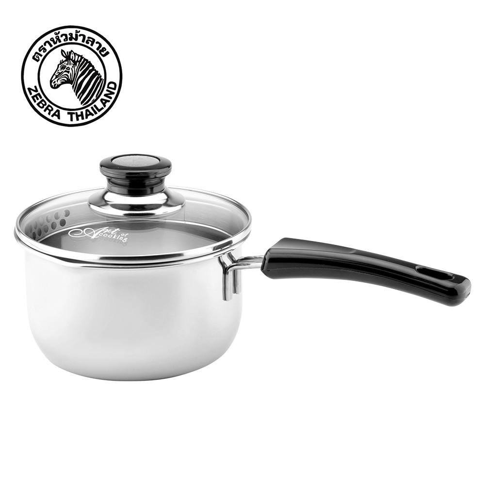 【ZEBRA斑馬牌】304不鏽鋼 16cm Cesar 單把鍋 1.7L (牛奶鍋 湯鍋)