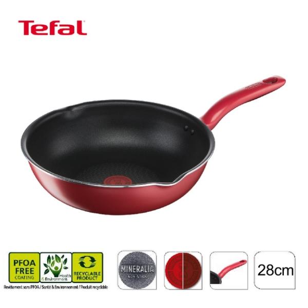 免運 法國特福 美食家系列28cm不沾深平鍋(電磁爐適用) G1358695