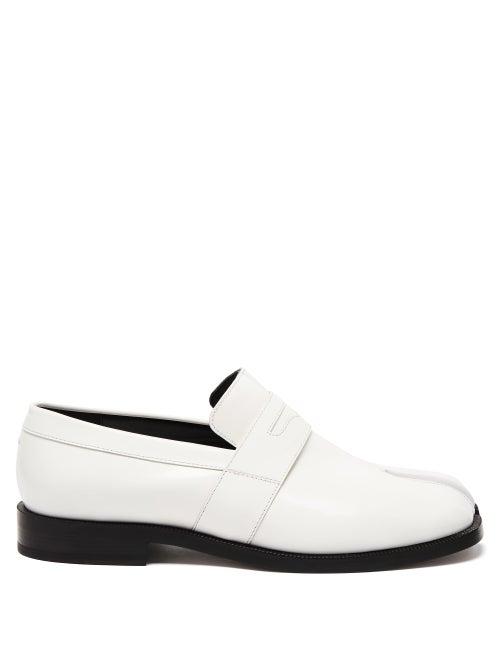 Maison Margiela - Tabi Split-toe Leather Loafers - Womens - White