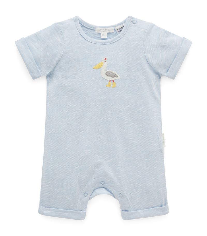 Purebaby Cotton Pelican Playsuit (0-18 Months)