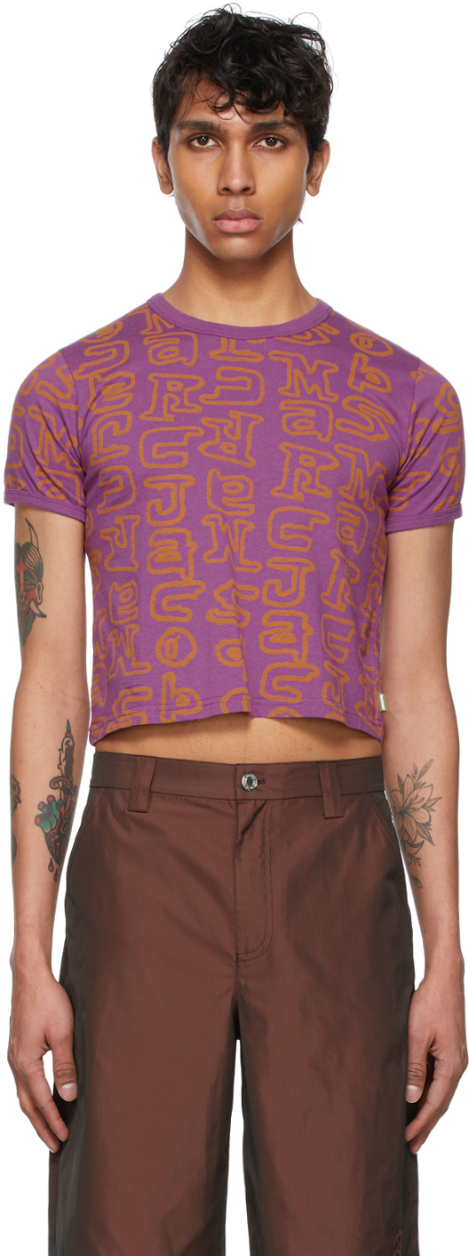 Marc Jacobs 紫色 Heaven by Marc Jacobs 系列 Scribblez Baby T 恤