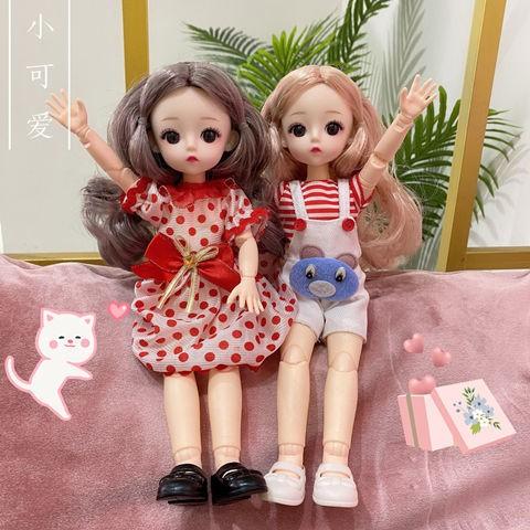 芭比娃娃 仿真洋娃娃套裝新款30厘米時尚芭比娃娃21關節換裝玩具娃娃3D真眼女孩過家家禮物